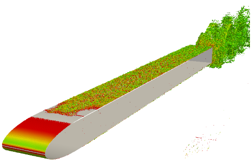 Flow-induced noise produced by a blunt edged flat plate in a reverberant water tunnel